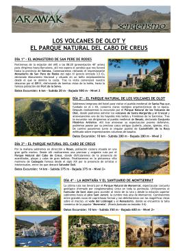 los volcanes de olot y el parque natural del cabo
