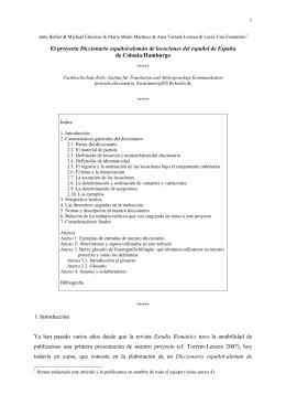 El proyecto Diccionario español-alemán de locuciones del español