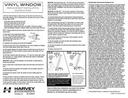 VINYL WINDOW - Harvey Building Products