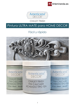Pintura ULTRA MATE para HOME DECOR