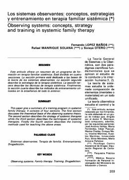 Los sistemas observantes: conceptos, estrategias y entrenamiento