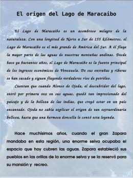 El origen del Lago de Maracaibo