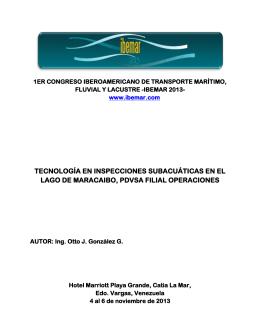 tecnología en inspecciones subacuáticas en el lago de maracaibo