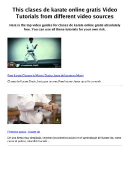 #Z clases de karate online gratis PDF video books
