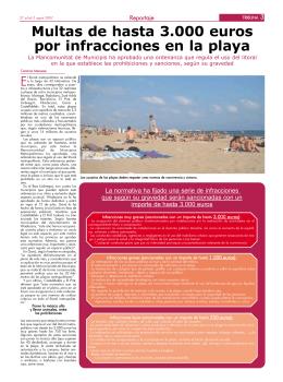 Multas de hasta 3.000 euros por infracciones en la playa