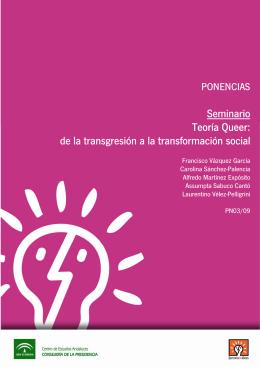 Seminario Teoría Queer: de la transgresión a la transformación social