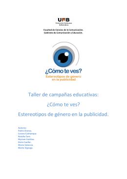 Taller de campañas educativas: ¿Cómo te ves? Estereotipos de