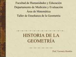 Historia de la Geometría. Presentación Power