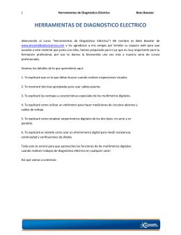 HERRAMIENTAS DE DIAGNOSTICO ELECTRICO