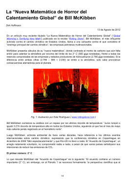 """La """"Nueva Matemática de Horror del Calentamiento Global"""" de Bill"""