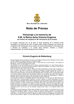Nota de Pre Nota de Prensa - Real Academia de la Historia
