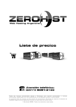 Todas las marcas mencionadas ajenas a Zerohost, son marcas