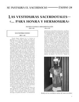 Las vestiduras sacerdotales - cursos bíblicos para obreros cristianos