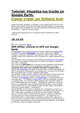 visualizar tracks hechos con el GPS en los mapas Google Earth