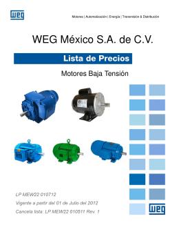 WEG México S.A. de C.V. - Proveedor Electromecanico