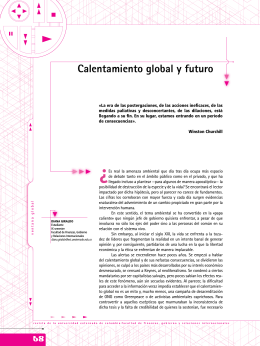 Calentamiento global y futuro - Universidad Externado de Colombia