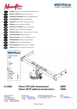Volvo XC70 without levelcontrol 2008