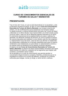 CURSO DE CONOCIMIENTOS ESENCIALES DE