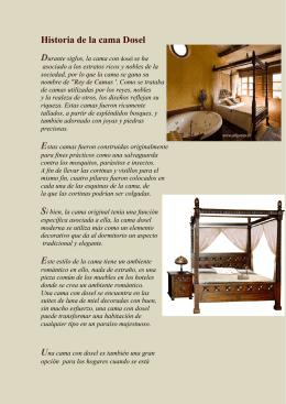 Historia de la cama Dosel