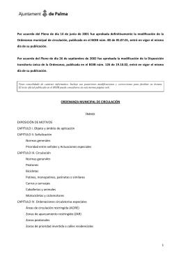 Ordenanza municipal de circulación