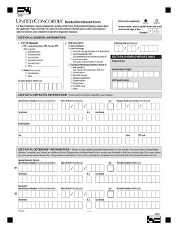 CA DHMO Dental Enrollment Form