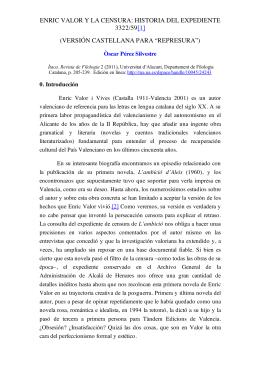 ENRIC VALOR Y LA CENSURA: HISTORIA DEL