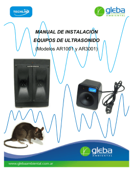 Manual Instalacion ULTRASONIDOS