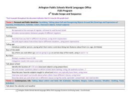 Arlington Public Schools World Languages Office FLES Program 4