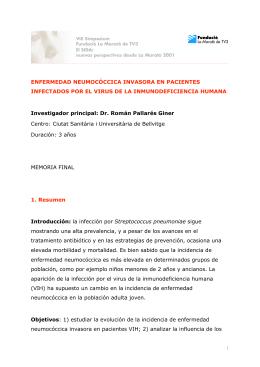 Dr. Romà Pallarés Giner Ciutat Sanitària i Universitària de Bellvitge