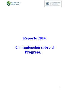 Reporte Anual de Comunicación sobre el Progreso 2014