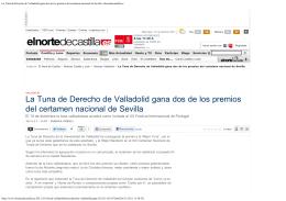 La Tuna de Derecho de Valladolid gana dos de los premios del