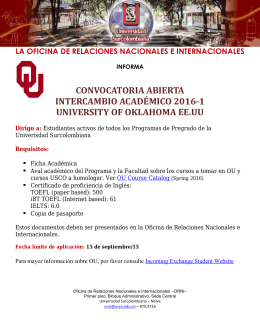 convocatoria abierta intercambio académico 2016