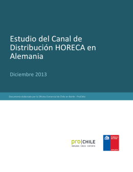 Estudio del canal de distribución HORECA en Alemania