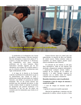Tratamientos domésticos contra la pediculosis.