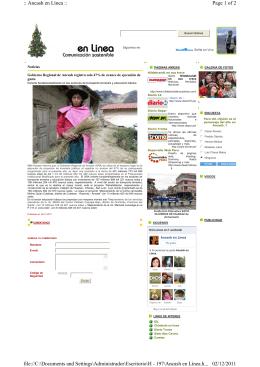 Page 1 of 2 :: Ancash en Línea :: 02/12/2011 file://C:\Documents and