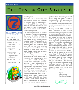 THE CENTER CITY ADVOCATE