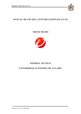 manual de uso del antivirus officescan cliente