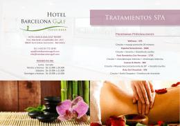 Tratamientos SPA - Hotel Barcelona Golf Resort & Spa