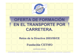 OFERTA DE FORMACIÓN EN EL TRANSPORTE POR CARRETERA.