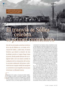El tranvía de Sóller celebra su primer centenario - Vialibre