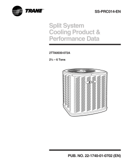 Split System Cooling Product & Performance Data