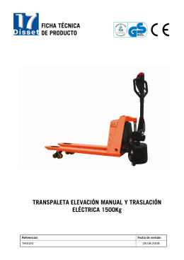 Transpaleta Of traslación electrical and manual