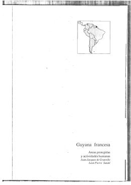 Areas protegidas y actividades humanas en Guyana francesa