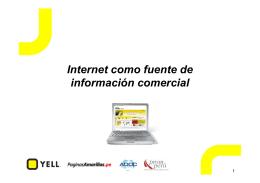 Internet como Fuente de Información Comercial