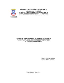 república bolivariana de venezuela universidad yacambú