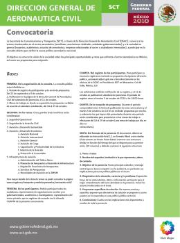 Convocatoria Aeronáutica Civil - Secretaría de Comunicaciones y