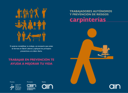 Manual Prevencion - Carpinterias