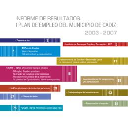 informe de resultados i plan de empleo del municipio de cádiz