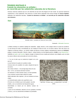 un recorrido por las catástrofes naturales - Ajuntament de Vila-real