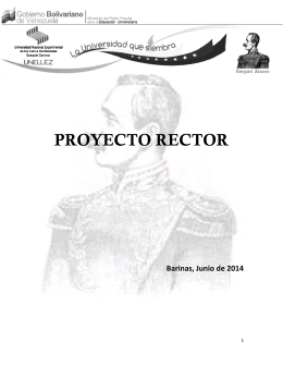 Proyecto Rector - Plan Especial de Formación Docente OPSU